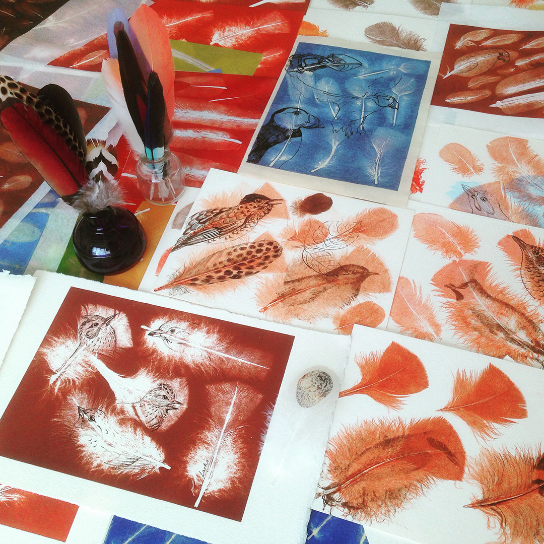 Printing on Feathers
