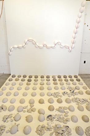 Walking on Egg Shells Installation