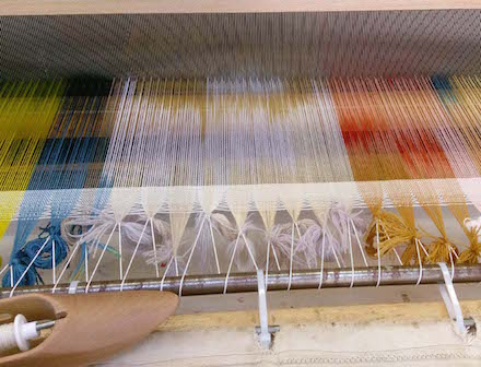 Weaving on the Floor Loom Photo/Julia Wright