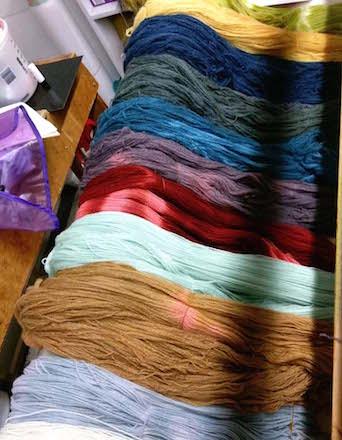 Dyed Yarns Photo/Julia Wright