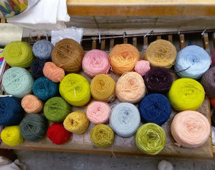 Different Colored Yarn Photo/Julia Wright