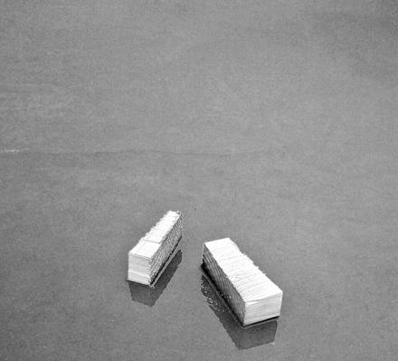 """Jeff Alu, """"Pieces"""", Construction Site, Riverside, CA, 2000"""