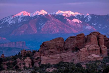 Purple mountains majesty . . . Arches National Park-NPS Photo/Kait Thomas