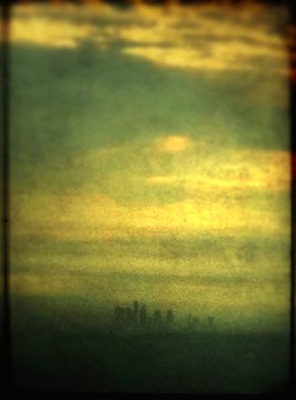 """Jeff Alu, """"DTLA"""", Shot from Echo Mountain, 2011"""