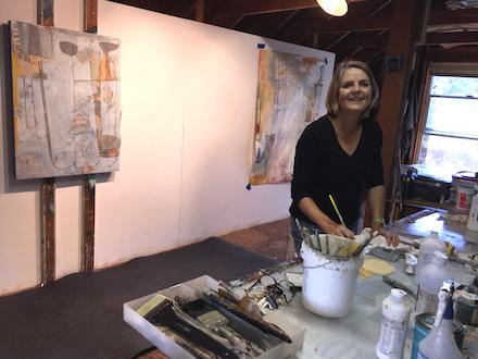 Teresa Stanley in her studio