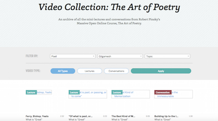 The Art of Poetry homepage