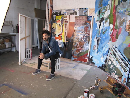 Gill Desiano Bitton in his studio