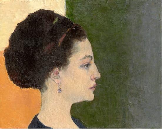 Lubov Lemkovitch, Irina, oil on canvas.