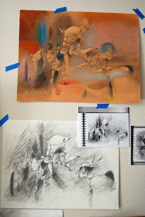 Daniel Ketelhut, sketch and drawings for Mirage