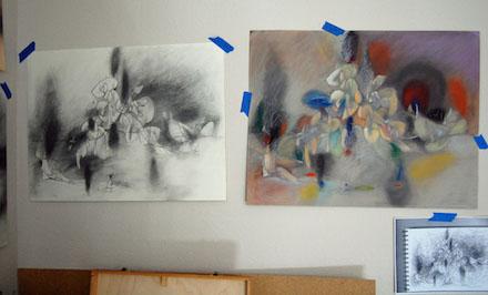 Daniel Ketelhut, from sketch to drawing.