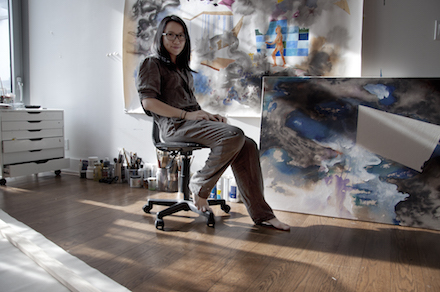 Eleen Lin in her studio