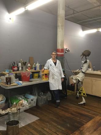 Kelly Zélen in her studio.