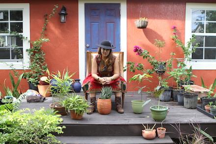 Ivette Cabrera in the garden