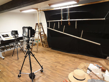 "Photographing ""Ladder"" in the studio"