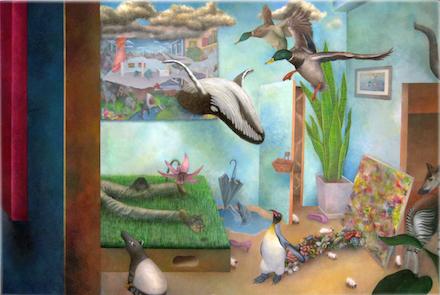 "Yasuaki Okamoto, 3:30AM, oil on canvas, 20""×30"""