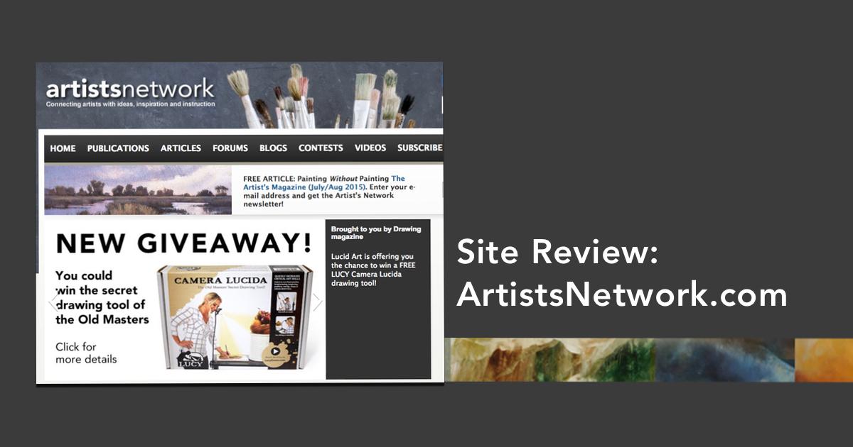 site review  artistsnetwork com
