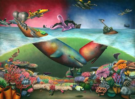 "Yasuaki Okamoto, Dear Landlord, oil on canvas, 30""×40"""