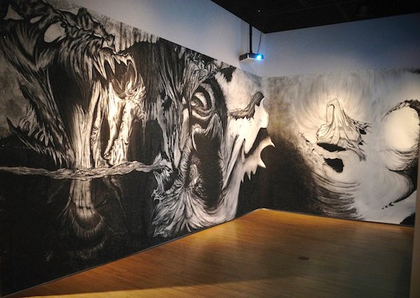 Brianna Baurichter, Constant, Charcoal on paper, 9'x36', 2016