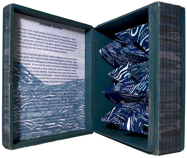"""Barbara Milman, Unnatural Histories No. 86, altered cigar box, digital, 6 3/4"""" x 7 3/4"""" x 3,"""" unique"""