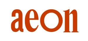 the logo for aeon magazine